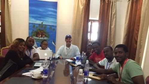 Leading the Screenwriting Workshop at Africa's largest film event, the 2014 Zanzibar International Film Festival, featuring some of Africa's most talented screenwriters from Congo, Kenya, Rwanda and Tanzania - great group!