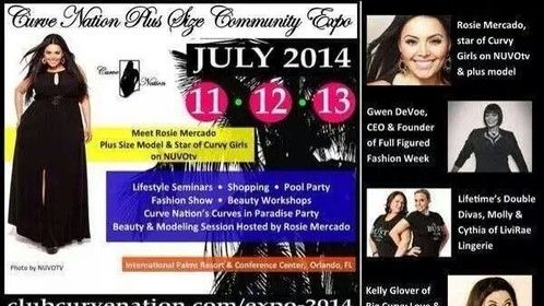 What are you guys doing this weekend? I know where I'll be... Join me and the rest of my Curve Nation family at The Curve Nation Plus Size Expo Hosted By a Rosie Mercado! July 11-13,2014 This event is going to have it all!  Pool Parties Gentlemens lounge Workshops Seminars and much much MORE! So get your tickets while supplies last!
