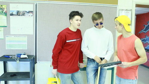 Jacob Farrell (Director, Actor [left]) along with Drew Springer (Actor [center]) and Myself (right).