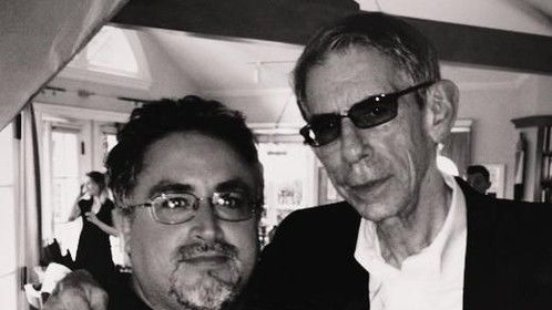 Richard Belzer on location at author Dick Russell's house in LA.