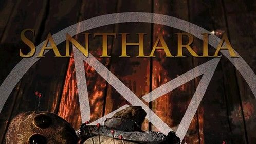 """Poster for short film """"Santharia."""""""