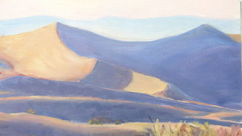 oil painting (plein air) for scene in Deja Voodoo
