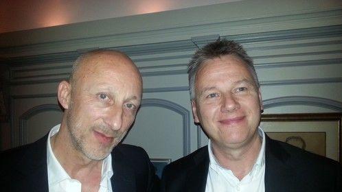 Wernher Pramschufer and director Oliver Hirschbiegel in Zurich