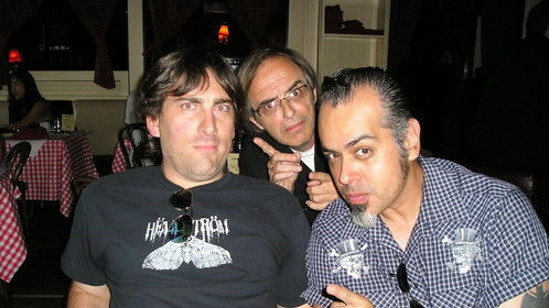 "Left to right:Joe Losurdo, Director of You Weren't There - a history of Chicago punk, Terry ""Dadbag"" Graham - DJ and former member of the band Gun Club and Jason Huerta - Illustrator and husband of Director Laura Tabor-Huerta after the Don't Knock the Rock film festival in LA 2008"