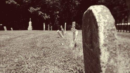 Creepy cemetery pic.  Taken: Funk's Grove Cemetery 7/29/14