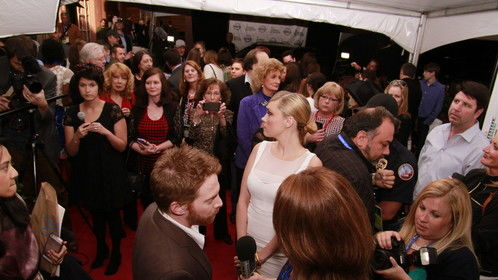 Seth Green on the red carpet at NaFF.