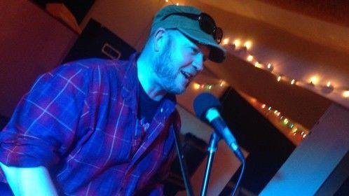Mac performing at Dundas Music Club. July 2014.