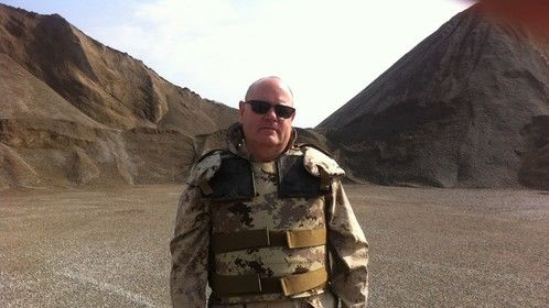 "Colonel Hudson, the character I play in the new comedy pilot that Johnny Gardhouse and I created called, ""The Sandbox""."