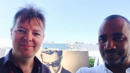 Director Rudi Buitendach & Elliott Yancey in Cannes
