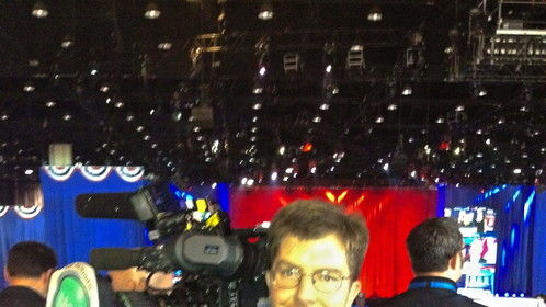 Chicago, Election Night, 2012, working for Euronews.