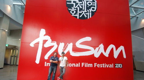 """Hanging with director Emmanuel Shirinian at the Festival grounds 2013 awaiting the premiere of our film """"It Was You Charlie"""""""