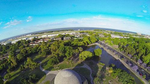 Aerial shot of the Buenos Aires planetarium.