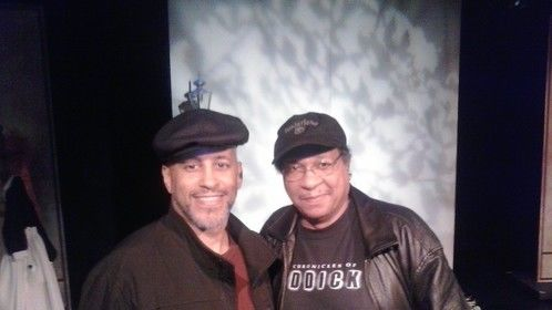"Producer/Director Kevin John Goff (Great-grandnephew of the late, Oscar-winning actress, Hattie McDaniel of Gone With The Wind fame) with Producer Al Reynolds (Producer of the play/musical ""What I Need You To Know"" about the life of Hattie McDaniel) in 2013."