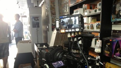On Set with Sony F3