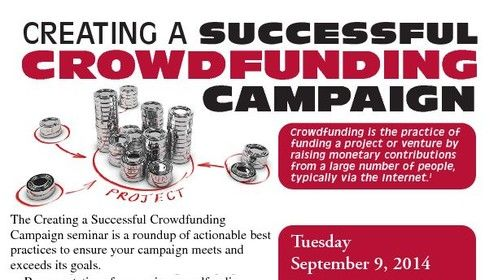 """Burlington County College presents crowdfunding seminar for entrepreneurs, businesses and startups  Mount Laurel, NJ —Crowdfunding, is the practice of individuals collectively pooling money to fund projects or ideas, typically via the Internet, will be the topic of discussion at a seminar presented by the Incubators at Burlington County College (BCC) on Tuesday, Sept. 9 from 6 p.m. to 8 p.m. at the Enterprise Center at BCC, located on the college's Mount Laurel campus.  Presented along with Ronald M. Allen, of Managing Change, the seminar will bring together representatives from major Crowdfunding platforms like KIVA, Indiegogo and Kickstarter (just three of the 140 platforms to date), who will discuss the elements of a successful Crowdfunding campaign. In addition to raising capital, Crowdfunding can also help strengthen brand identity, secure publicity, create awareness and connect valuable business contacts.   Registration begins at 5:30 p.m. and the program will start at 6 p.m. Cost of attendance is $25, which is payable online at incubators.bcc.edu/crowdfunding (click """"Add to Cart"""" at bottom of page). The seminar includes a question and answer session, giveaways and light refreshments.   Where the Arts meet creative financing options.  Ronald M. Allen Managing Change, LLC"""