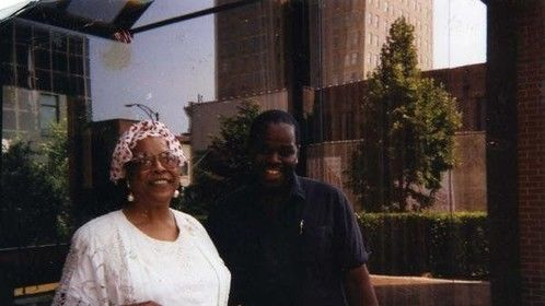 With legendary actress Della Reese in North Carolina