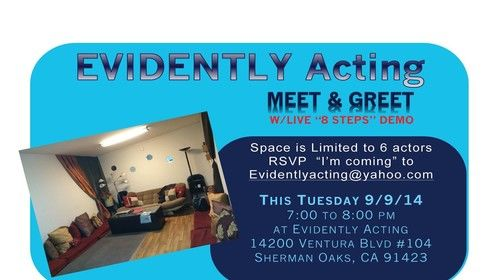 Wanting to know more about Evidently Acting? Check it out!!! Limited seating so RSVP!!! ;-))