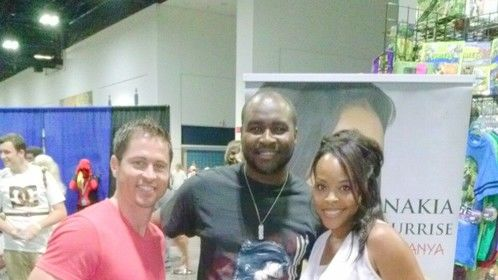 Jason faunt, me and Nakia Burisse. Met two really cool power rangers.