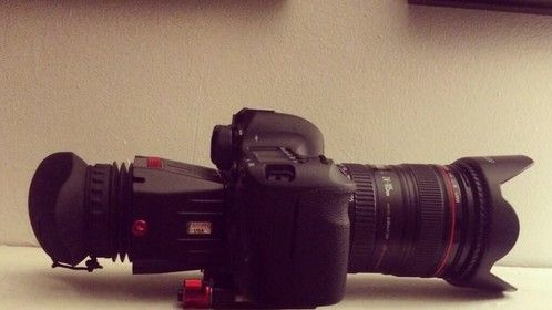 Canon 6D with Zacuto Z-Finder