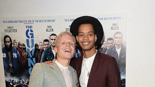 Hanging out: Charley Merkell (left) and Harley Sylvester of Rizzle Kicks pose for snaps.