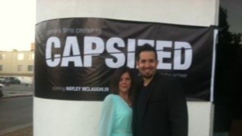 With Director Brandon Freer at Capsized screening.