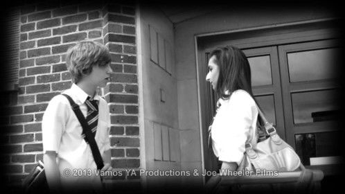 A scene from TEENAGE KICKS where Ky meets up with his girlfriend at school