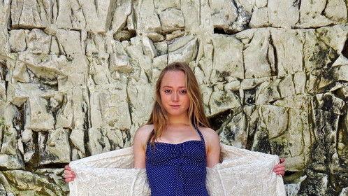 Beach modelling shoot