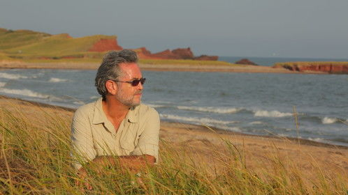 "Gregory on the Magdalen Islands during shoot of ""Legends of Magdalen"" (2012)"