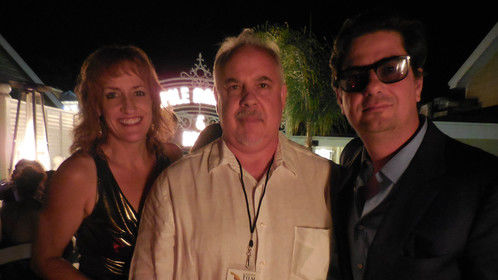 Hanging with Roman Coppola at the after-fest party - Catalina Film Festival, 2014