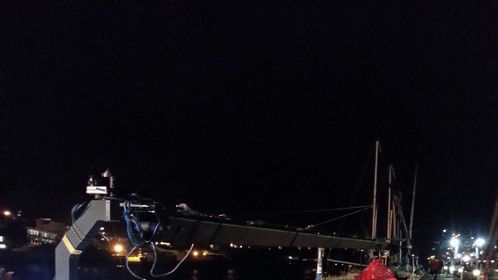 Just floating around Simons Town harbour on a pontoon ....with a Jib!