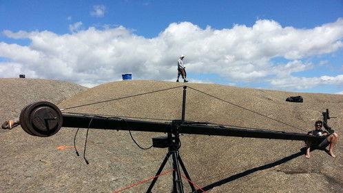 Jimmy Jib Rocks!!! Paarl rock shooting Kellogs commercial