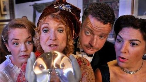 """Playing the role of Ruth Condomine in """"Blithe Spirit """" Fall 2014"""