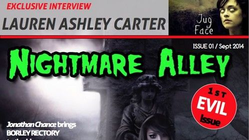"Digital magazine I publish, ""Nightmare Alley"" for the indie horror scene. We welcome actors/writers/directors/composers to get in touch. Advertising Rates very reasonable."