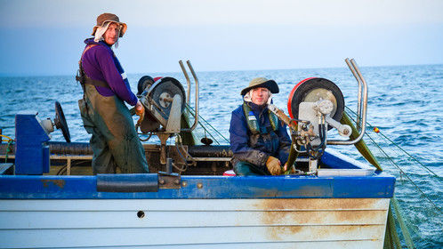 These two brothers are the latest generation of a long line of lough fishermen, stretching back some 8000 years, and are following on a tradition of net fishing that dates from the 1700s.