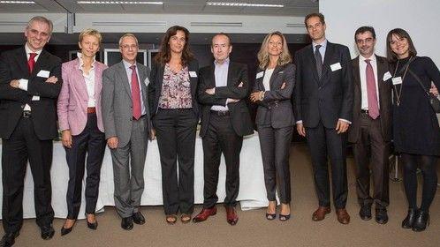 IEP conference's team from right: Assunta Maglio (IEP), Ermete Mariani (IEP), Lionel Lesur (MWE), Antonella Paparoni (IEP), Yves Bardon (IPSOS), Anais Ginori (La Repubblica), Andrea Cavallari (General Consul of Italy in Paris), Daniela Dalla Valle (IEP) and Marco Bena