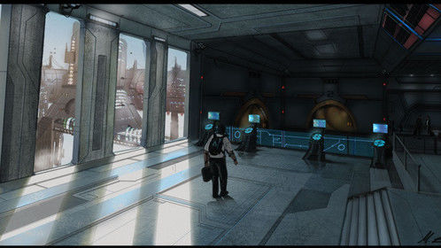 Sci Fi subway entrance concept
