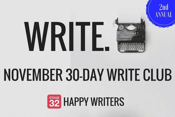 November Write Club: Let's do this—again!