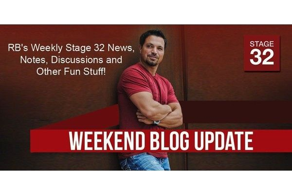 RB's Stage 32 News, Notes, Discussions and Other Fun Stuff (November 11, 2016)