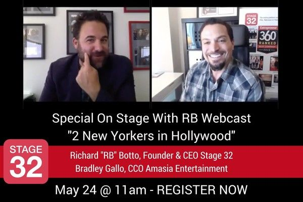 "Special On Stage With RB Webcast ""2 New Yorkers In Hollywood"" Next Wednesday"