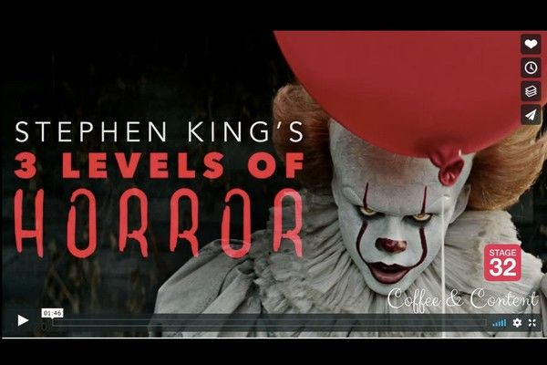Coffee & Content - Stephen King's 3 Levels of Horror & 15 Essential Camera Shots