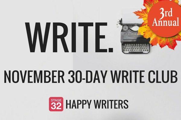 3rd Annual November Write Club: Let's Get Writing!
