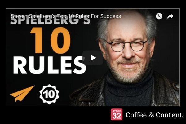 Cofee & Content - Steven Spielberg's 10 Rules for Success & Joe Eszterhas on Screenwriting