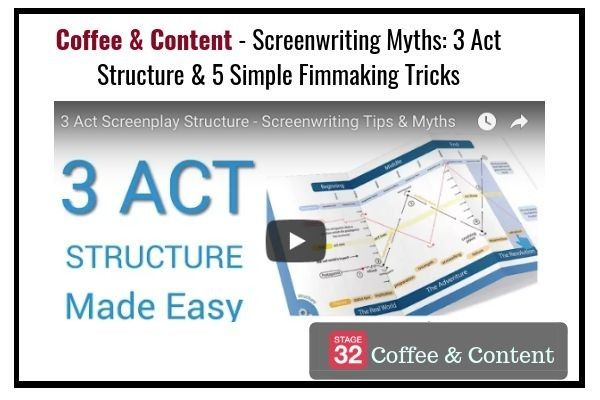 Coffee & Content - Screenwriting Myths: 3 Act Structure & 5 Simple Filmmaking Tricks