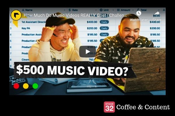 Coffee & Content - How Much Do Music Videos REALLY Cost & How to Make a Music Video on a Budget