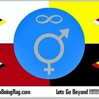 Human Being Flag Dotcom