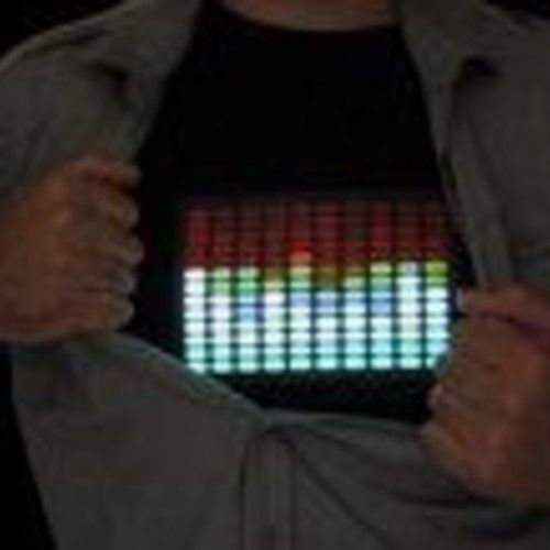 Sound-Activated Equalizer Lightup-shirts