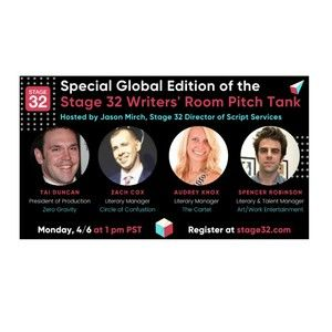 Special Global Edition of the Stage 32 Writers' Room Pitch Tank