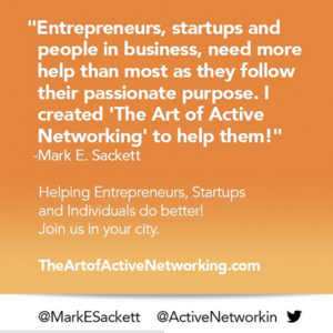 THE ART OF ACTIVE NETWORKING, SAN FRANCISCO January 11