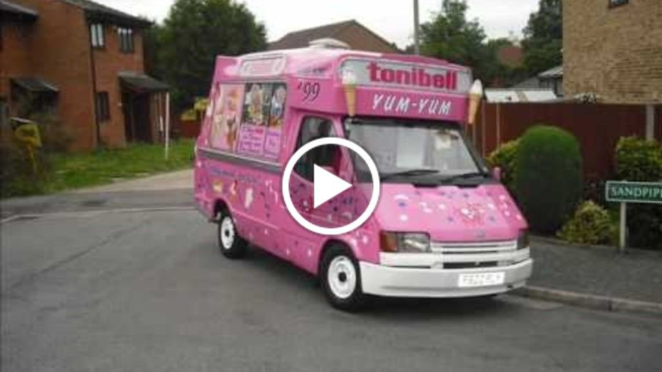 The legendary, original and iconic tonibell ice cream van hire