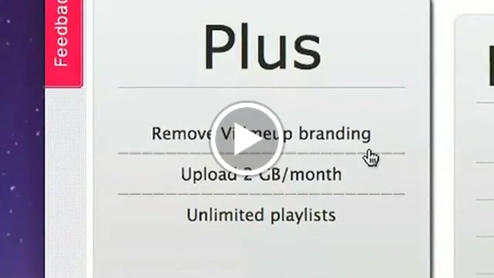upgrading for cool features of vidmeup!